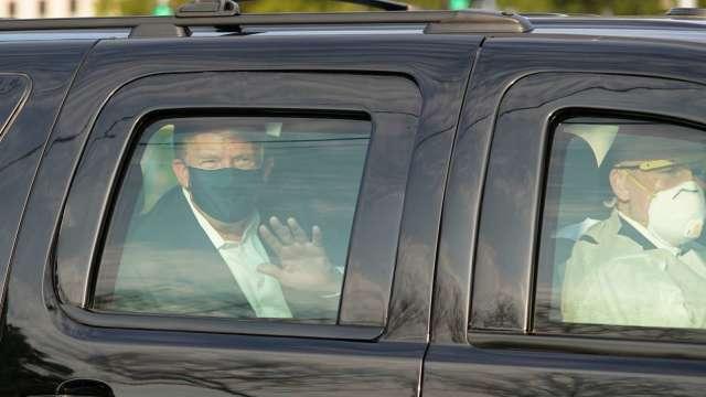 川普推文今晨6點半出院 白宮醫生:他沒完全康復(圖片:AFP)