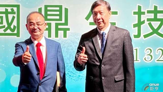 圖左為國鼎董事長劉勝勇、右為總經理蘇經天。(鉅亨網資料照)