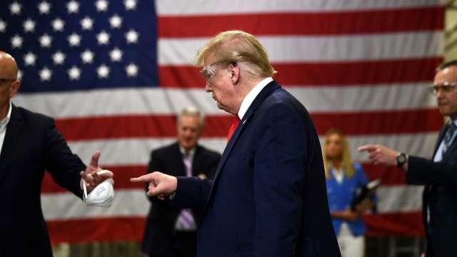 川普回白宮戴口罩辦公?庫德洛:不能說得太具體 (圖片:AFP)