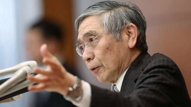 黑田東彥:景氣回溫當中 必要時採取進一步貨幣寬鬆 (圖片:AFP)