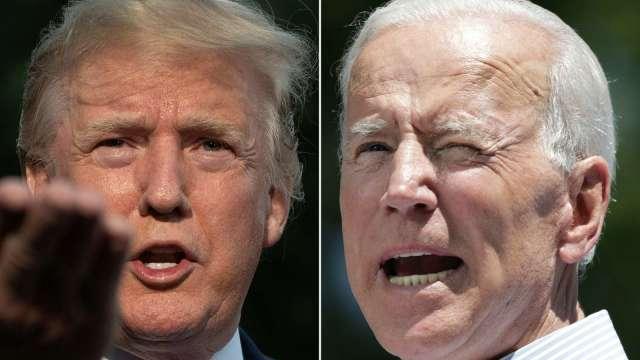 拜登說不!川普要求延期一週舉行「面對面」辯論。(圖片:AFP)