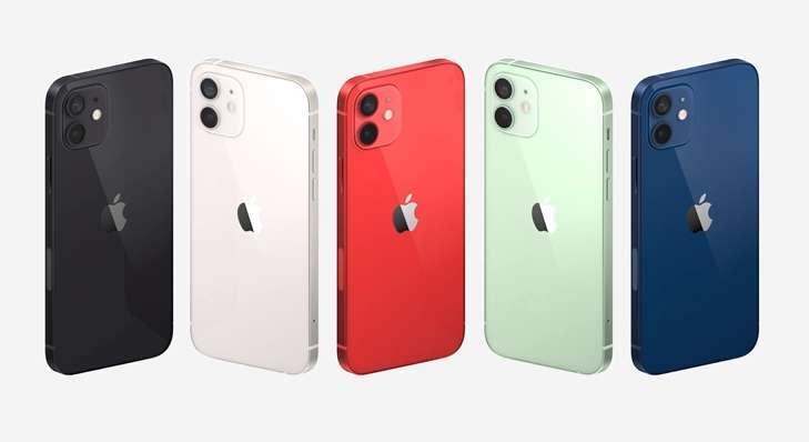 iPhone 12 Mini 和 iPhone 12 有五色選擇 (圖片:蘋果)
