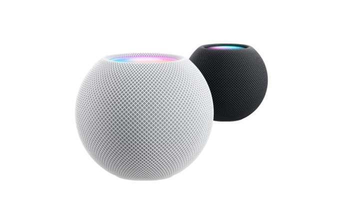 Homepod mini 有太空灰與白色兩種顏色可供選擇 (圖片:蘋果)