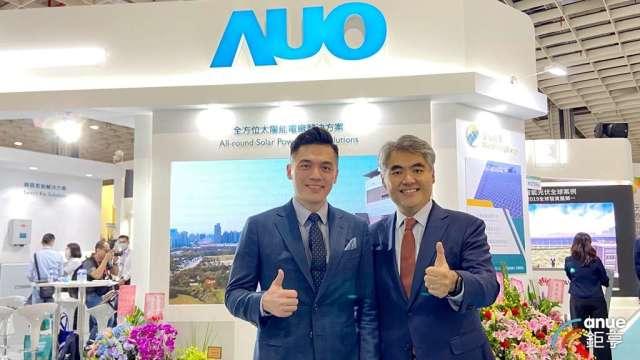 友達能源事業總部副總經理林恬宇(右)、陽光伏特家共同創辦人馮嘯儒(左)。(鉅亨網記者劉韋廷攝)