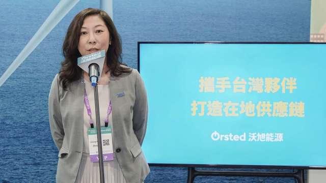 沃旭能源台灣總經理汪欣潔。(圖:沃旭提供)