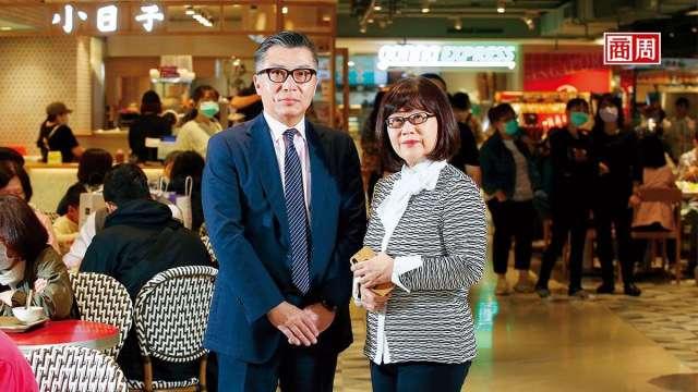 遠東Sogo百貨副總經理吳素吟(右)和店長李景銘(左)。(商周提供)
