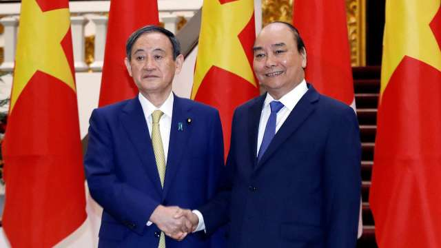 日、越元首會談 短期商務往來重啟等達成共識 (圖片:AFP)