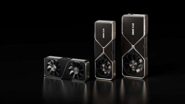 輝達GeForce RTX 30系列示意圖。(輝達提供)