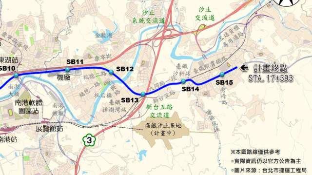 捷運汐東線規劃。(圖:台灣房屋提供)