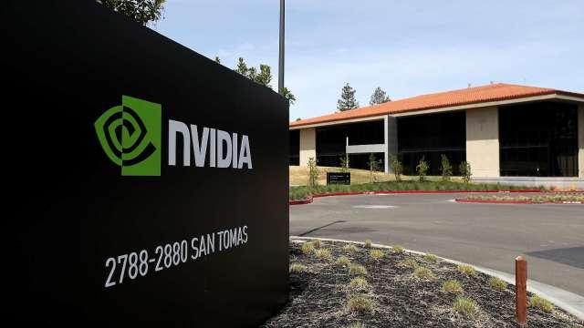 輝達(Nvidia)擬收購安謀(Arm)。(圖:AFP)