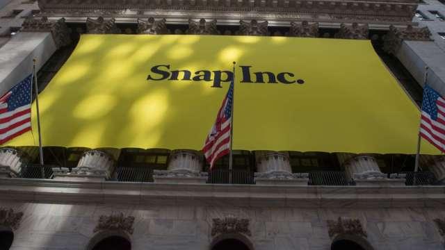 Snap Q3廣告業務強勁帶動獲利 股價漲近30% 廣告科技股齊揚(圖片:AFP)