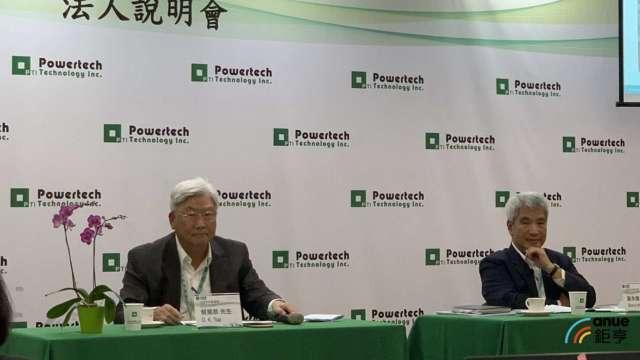 左起為力成董事長蔡篤恭、執行長謝永達。(鉅亨網記者林薏茹攝)
