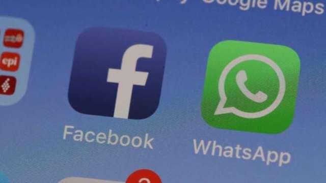 WhatsApp推出程式內購買功能 強化臉書電商平台(圖:AFP)
