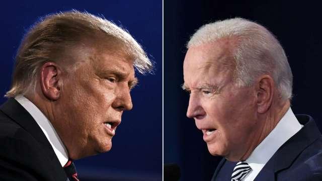 美選辯論最終回 川普、拜登對決 (圖:AFP)