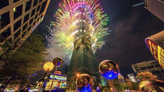 台北101仍將如期施放跨年煙火。(圖:101提供)