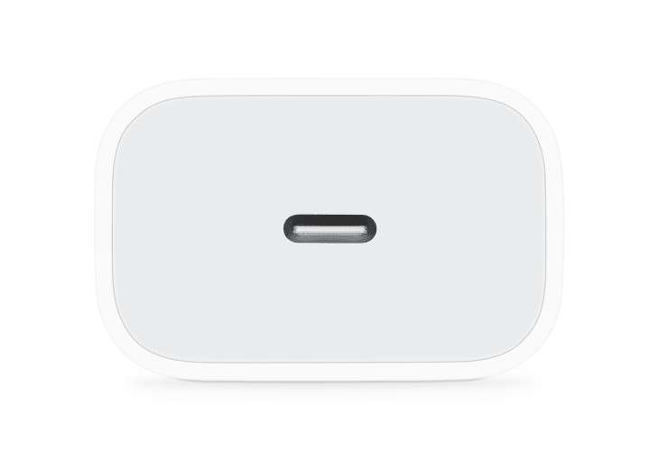 蘋果新款充電頭 20 瓦特,Type-C 接口