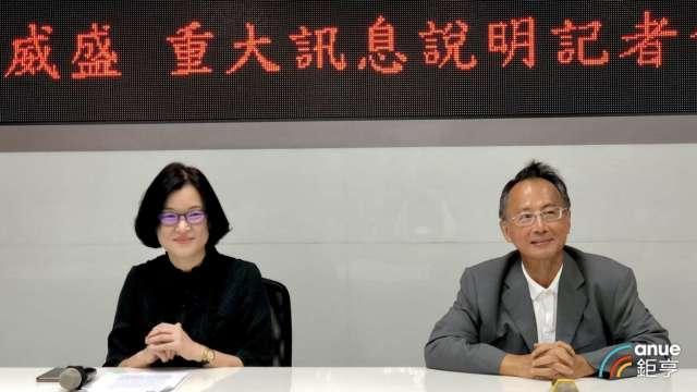 圖右為威盛董事長陳文琦、左為威盛財務長陳寶惠。(鉅亨網資料照)