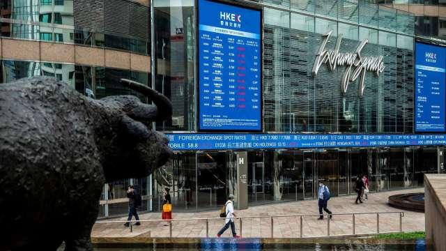 滙豐見底回升 加強恒指抗跌力。(圖:AFP)