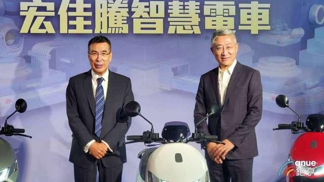 富邦媒將啟動雙11檔期,左為董事長林啟峰,右為總經理谷元宏。(鉅亨網記者王莞甯攝)