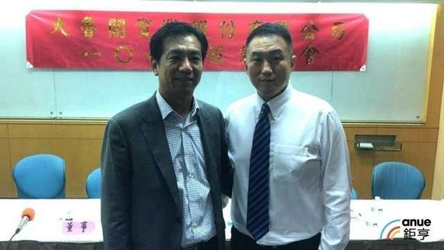 大魯閣總經理謝國棟(右)。(鉅亨網資料照)