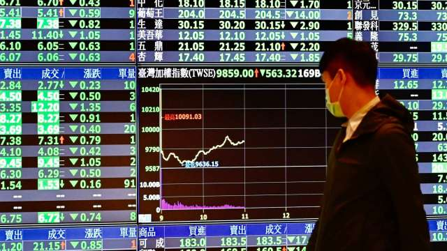 外資近2日大買元大台灣50反1達30萬張 調節聯電逾6萬張。(圖:AFP)