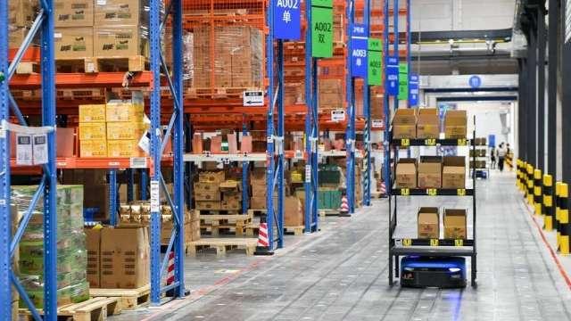 預售首日已有近1000萬噸天貓雙11的商品備貨進入菜鳥倉。(圖:菜鳥國際提供)