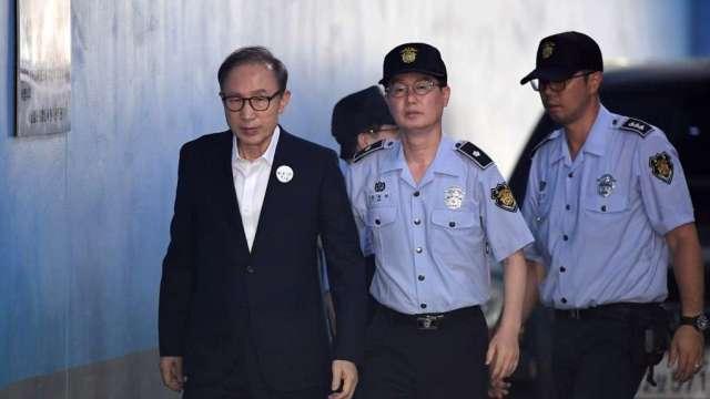 李明博貪污案判處17年徒刑定讞 罰金130億韓元(圖:AFP)