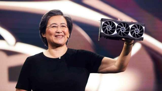 超微總裁暨執行長蘇姿丰發表全新Radeon RX 6000系列顯示卡。(圖:超微提供)