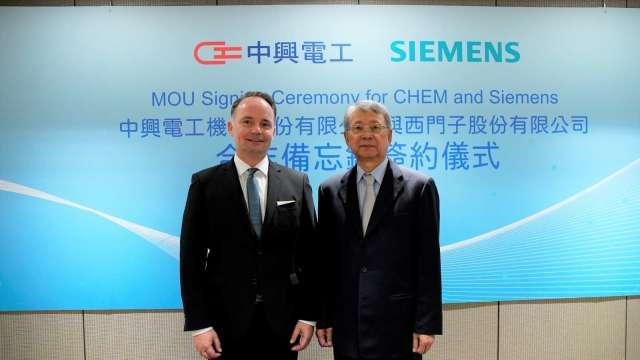 中興電今(2)日與西門子數位工業簽訂合作備忘錄。(圖:中興電提供)