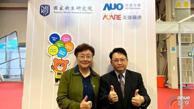 友達新事業副總經理楊本豫(右)、國衛院群體健康科學研究所特聘研究員熊昭(左)。(鉅亨網記者劉韋廷攝)
