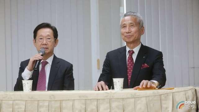 左為大同新董座林文淵、右為三圓建設董事長王光祥。(鉅亨網資料照)