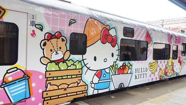 易遊網環島之星Hello Kitty繽紛列車。(圖:易遊網提供)