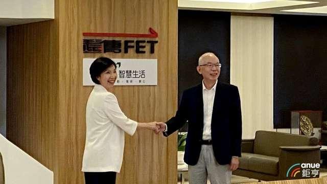 左為遠傳總經理井琪,右為亞太電總經理黃南仁。(鉅亨網資料照)