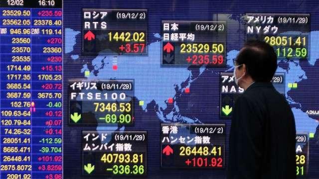 〈日股〉拜登勝出 東京股市開盤後一度漲逾500點 (圖片:AFP)