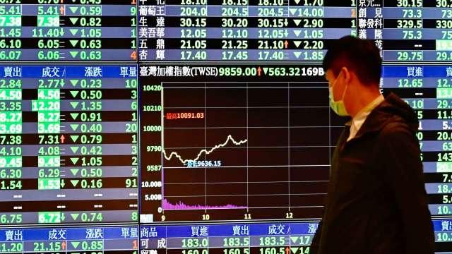 外資續抱金融股 共7檔獲買超上萬張 面板雙虎面臨資金大逃殺。(圖:AFP)