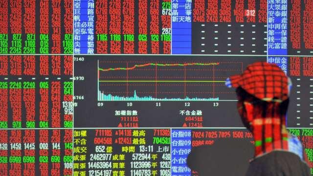台股收13262點續締新猷 外資回補 三大法人狂買196.95億元。(圖:AFP)