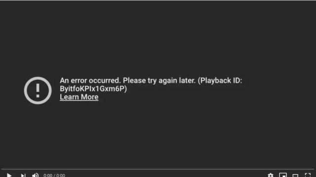 YouTube全球大當機 畫面一片黑 (圖:取自YouTube)