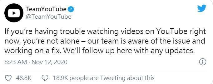 取自 TeamYouTube 推特。