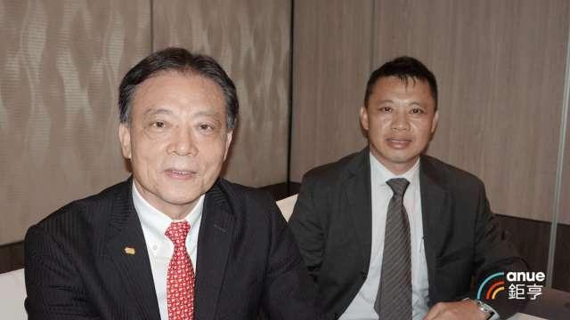 晶技董事長林萬興(右)及總經理郭雅屏。(鉅亨網記者張欽發攝)