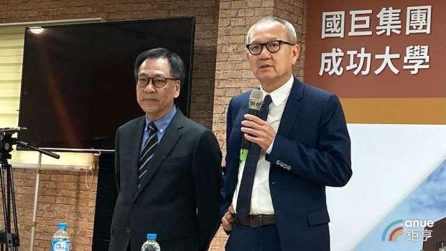 國巨董事長陳泰銘(右)及執行長王淡如。(鉅亨網資料照)