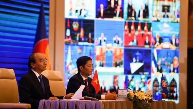 亞太15國正式簽署RCEP 中國主導的全球最大自貿區將誕生(圖:AFP)