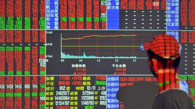 台股再寫新高13551點 外資助威大買逾200億元 三大法人買超263.6億元。(圖:AFP)