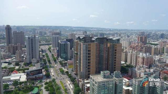 全台高層住宅成交與一般大樓成交價差達2成,台中市價差並高達37.5%。(鉅亨網記者張欽發攝)