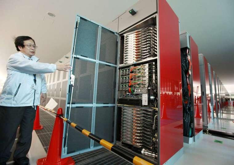 日本超級電腦「京」(Kei) (圖片:AFP)