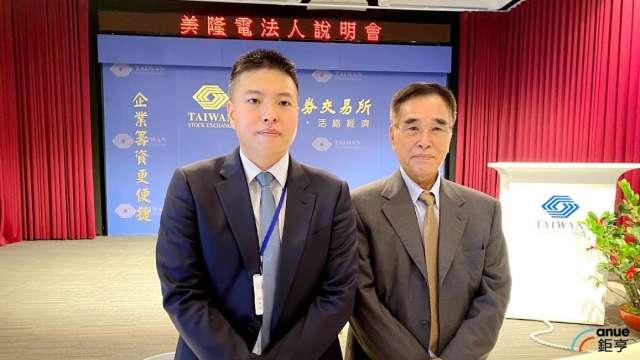 圖左為美隆電資深協理吳堂誌,右為董事長吳維忠。(鉅亨網記者沈筱禎攝)