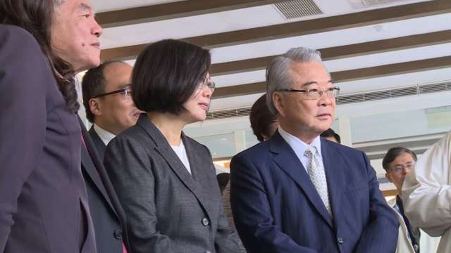 三三會理事長許勝雄(右)。(圖:總統府提供)
