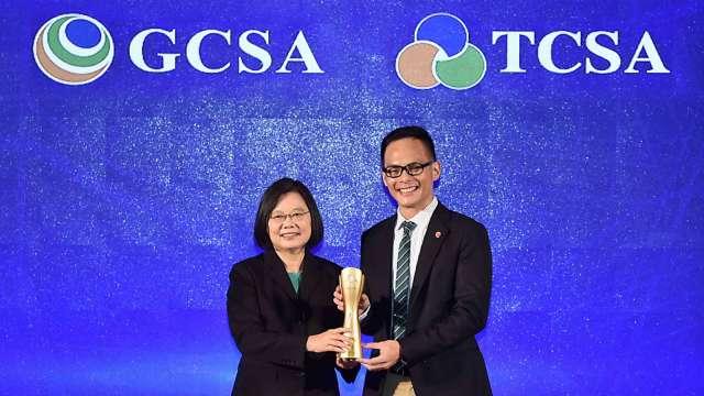 2020台灣企業永續獎 台灣大奪十大項目躍升年度大贏家。(圖:台灣大提供)