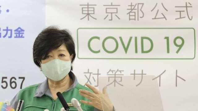 東京單日確診首度突破500人 警戒層級拉至最高 (圖片:AFP)