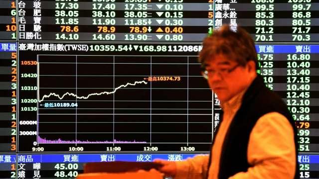 台股多空交戰守住13700點 外資連2賣 三大法人賣超32.7億元。(圖:AFP)