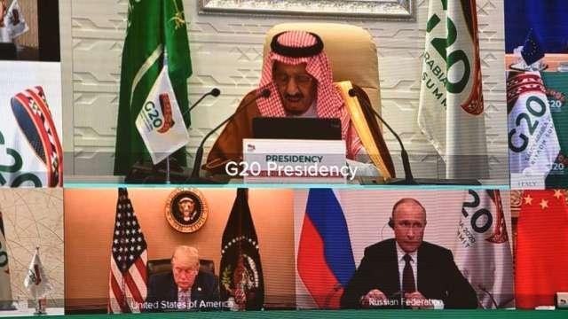 G20峰會召開聚焦疫情 川普在開幕演講時發推文指控選舉詐欺(圖:AFP)